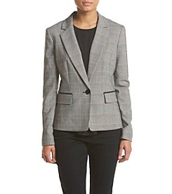 Nine West® Printed Elbow Patch Jacket