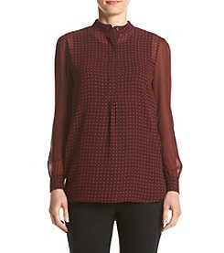 Anne Klein® Printed Tunic Blouse