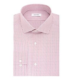 Calvin Klein Men's Checked Spread Collar Dress Shirt