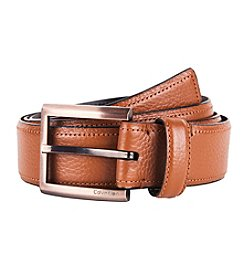 Calvin Klein Men's Feathered Edge Cognac Belt