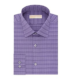 MICHAEL Michael Kors® Men's Purple Check Regular Fit Dress Shirt