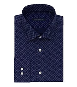 Tommy Hilfiger® Men's Pacific Blue Printed Dress Shirt