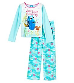 Disney® Girls' 4-10 2-Piece Just Keep Swimming Pajama Set