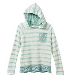 Belle du Jour Girls' 7-16 Striped Hoodie