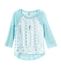 Beautees Girls' 7-16 Long Sleeve Embellished Top