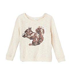 Jessica Simpson Girls' 7-16 Stellar Squirrel Sweatshirt