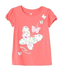 Mix & Match Girls' 2T-6X Bow Sleeve Butterfly Tee