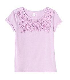 Mix & Match Girls' 2T-6X Flower Applique Tee