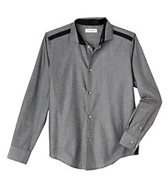 Calvin Klein Boys' 4-7 Long Sleeve Dress Shirt