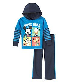 Disney® Boys' 2T-4T 2-Piece Boys Rule Hoodie and Pants Set