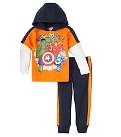 Marvel® Heroes Boys' 4-7 2-Piece Assemble Hoodie and Joggers Set