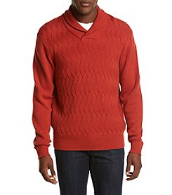 Weatherproof® Men's Cotton Shawl Collar Sweater