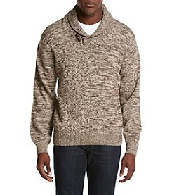 Weatherproof® Men's Fisherman Shawl Collar Sweater