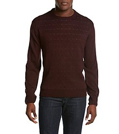 Weatherproof® Men's Maroon Crew Neck Sweater With White Dots