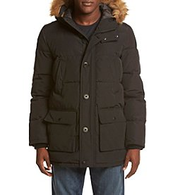 Tommy Hilfiger® Men's Artic Cloth Quilted Hooded Long Parka