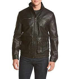 Kenneth Cole® Men's Faux Leather Moto Jacket