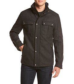 Cole Haan® Men's Wool Melton Stand Collar Jacket