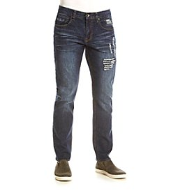 Lazer™ Men's Slim Stretch Fit Destructed Denim