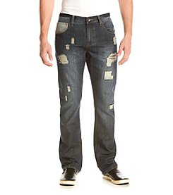 Lazer™ Men's Rigid Rip Repair Straight Fit Jeans