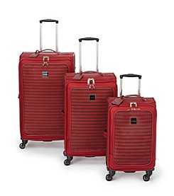 Isaac Mizrahi® Ingram Red Luggage Collection