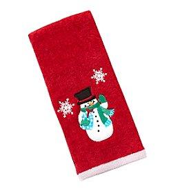 LivingQuarters Snowman Snowfall Hand Towel