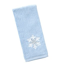 Saturday Knight, Ltd.® Simple Snowflake Hand Towel