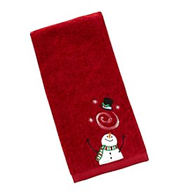 Saturday Knight, Ltd.® Snowman With Flying Hat Hand Towel