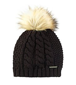 MICHAEL Michael Kors® Cable Patchwork Beanie With Pom