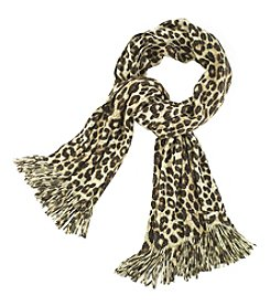 MICHAEL Michael Kors Large Spotted Cheetah Print Scarf
