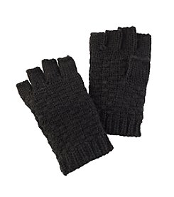 Free Spirit™ Double Knit Stitched Solid Fingerless Gloves