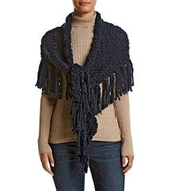 Free Spirit Solid Yarn Triangle Wrap