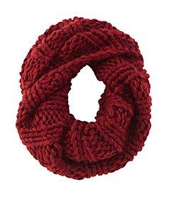 Free Spirit™ Chunky Rib Knit Solid Loop Scarf