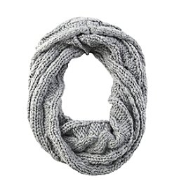 Collection 18 Knit Loop Scarf With Shine