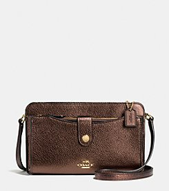 COACH MESSENGER WITH POP-UP POUCH IN PEBBLE LEATHER