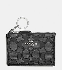 COACH BOXED MINI SKINNY ID CASE IN SIGNATURE JACQUARD