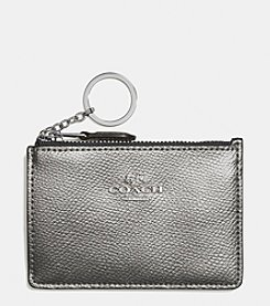 COACH BOXED MINI ID SKINNY IN METALLIC LEATHER