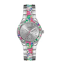 GUESS Floral Chronograph Watch