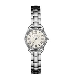 GUESS Women's Silvertone Classic Dress Watch