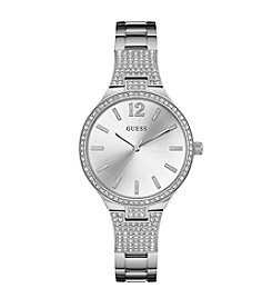 GUESS Women's Silvertone Dress Watch