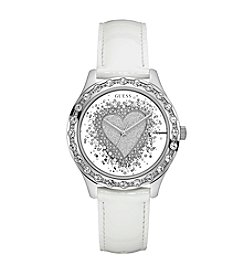 GUESS Glitter Heart Dial Watch