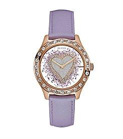 GUESS Glitter Heart Dial Watch