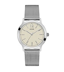 GUESS Men's White Dress Watch