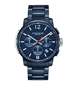 COACH MEN'S BLEECKER CHRONO IONIZED PLATING BRACELET WATCH