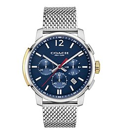 COACH BLEECKER CHRONO STAINLESS STEEL MESH BRACELET WATCH