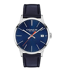 COACH METROPOLITAN LEATHER STRAP WATCH