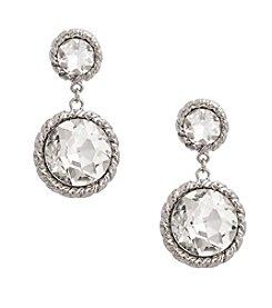Erica Lyons® Drama Graduated Drop Pierced Earrings