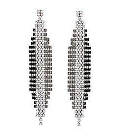 Erica Lyons® Drama Linear Ombre Pierced Earrings