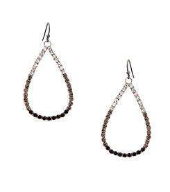Erica Lyons® Drama Ombre Open Teardrop Pierced Earrings