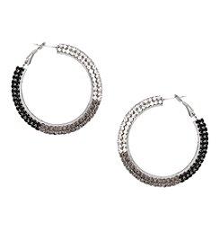 Erica Lyons® Drama Ombre Hoop Pierced Earrings
