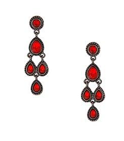 Erica Lyons® Drama Chandelier Pierced Earrings